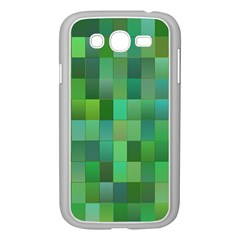 Green Blocks Pattern Backdrop Samsung Galaxy Grand DUOS I9082 Case (White)