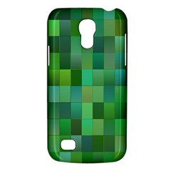 Green Blocks Pattern Backdrop Galaxy S4 Mini