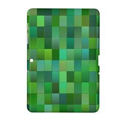 Green Blocks Pattern Backdrop Samsung Galaxy Tab 2 (10.1 ) P5100 Hardshell Case
