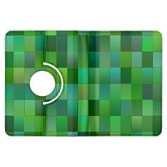 Green Blocks Pattern Backdrop Kindle Fire Hdx Flip 360 Case