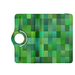 Green Blocks Pattern Backdrop Kindle Fire Hdx 8 9  Flip 360 Case