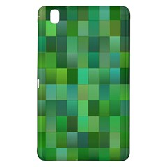 Green Blocks Pattern Backdrop Samsung Galaxy Tab Pro 8 4 Hardshell Case