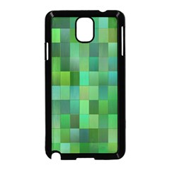 Green Blocks Pattern Backdrop Samsung Galaxy Note 3 Neo Hardshell Case (black)