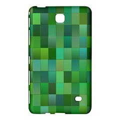 Green Blocks Pattern Backdrop Samsung Galaxy Tab 4 (8 ) Hardshell Case