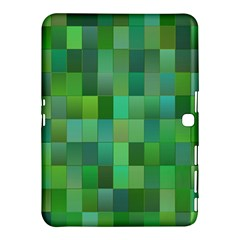 Green Blocks Pattern Backdrop Samsung Galaxy Tab 4 (10 1 ) Hardshell Case