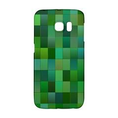 Green Blocks Pattern Backdrop Galaxy S6 Edge
