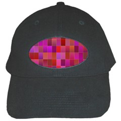 Shapes Abstract Pink Black Cap