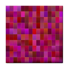 Shapes Abstract Pink Tile Coasters
