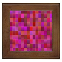 Shapes Abstract Pink Framed Tiles