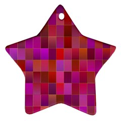 Shapes Abstract Pink Ornament (Star)