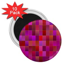 Shapes Abstract Pink 2.25  Magnets (10 pack)