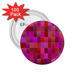 Shapes Abstract Pink 2 25  Buttons (100 Pack)