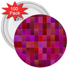 Shapes Abstract Pink 3  Buttons (100 pack)