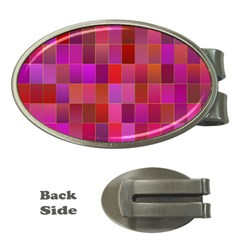Shapes Abstract Pink Money Clips (Oval)