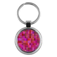 Shapes Abstract Pink Key Chains (round)