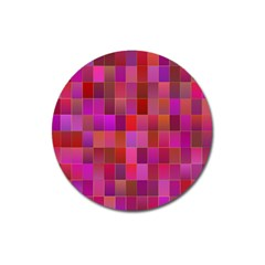 Shapes Abstract Pink Magnet 3  (Round)
