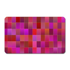 Shapes Abstract Pink Magnet (rectangular)
