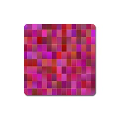 Shapes Abstract Pink Square Magnet