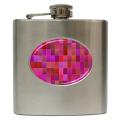 Shapes Abstract Pink Hip Flask (6 oz)