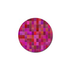 Shapes Abstract Pink Golf Ball Marker