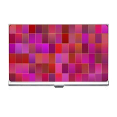 Shapes Abstract Pink Business Card Holders