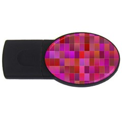 Shapes Abstract Pink USB Flash Drive Oval (1 GB)