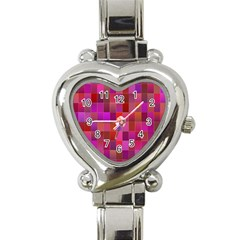 Shapes Abstract Pink Heart Italian Charm Watch