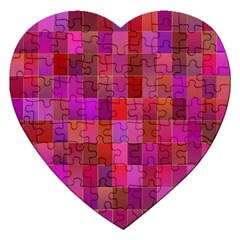Shapes Abstract Pink Jigsaw Puzzle (Heart)