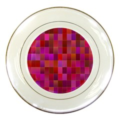 Shapes Abstract Pink Porcelain Plates