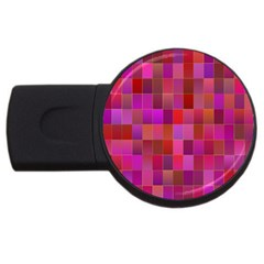 Shapes Abstract Pink USB Flash Drive Round (4 GB)
