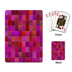 Shapes Abstract Pink Playing Card