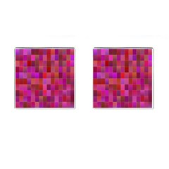 Shapes Abstract Pink Cufflinks (Square)