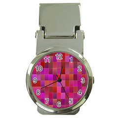 Shapes Abstract Pink Money Clip Watches