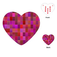Shapes Abstract Pink Playing Cards (heart)