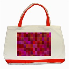 Shapes Abstract Pink Classic Tote Bag (red)
