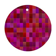 Shapes Abstract Pink Round Ornament (Two Sides)