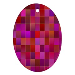 Shapes Abstract Pink Oval Ornament (Two Sides)