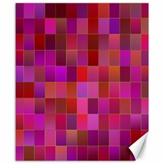 Shapes Abstract Pink Canvas 8  x 10