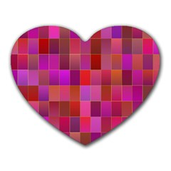 Shapes Abstract Pink Heart Mousepads