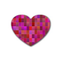 Shapes Abstract Pink Heart Coaster (4 pack)