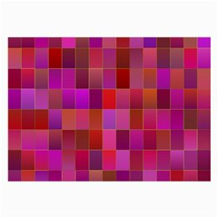 Shapes Abstract Pink Large Glasses Cloth