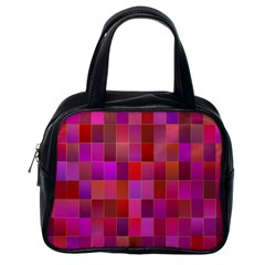 Shapes Abstract Pink Classic Handbags (One Side)