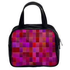 Shapes Abstract Pink Classic Handbags (2 Sides)