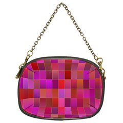 Shapes Abstract Pink Chain Purses (two Sides)