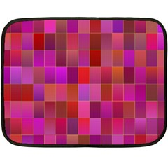 Shapes Abstract Pink Double Sided Fleece Blanket (Mini)
