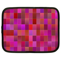 Shapes Abstract Pink Netbook Case (XXL)