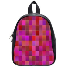 Shapes Abstract Pink School Bags (Small)