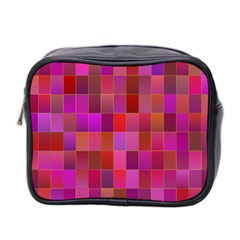 Shapes Abstract Pink Mini Toiletries Bag 2 Side