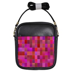 Shapes Abstract Pink Girls Sling Bags