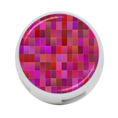 Shapes Abstract Pink 4-Port USB Hub (Two Sides)